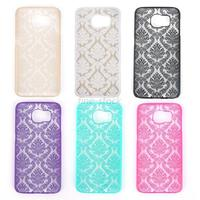 Mobile Phone Cases For Samsung Galaxy S6 Rubberized Damask Vintage Pattern Matte Hard Case Cover