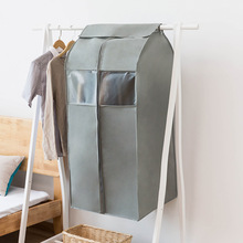 garment bag suit Clothes Dust Cover Non-woven fabric Case for Household Hanging-type Coat Suit Protect Storage Bag Wardrobe