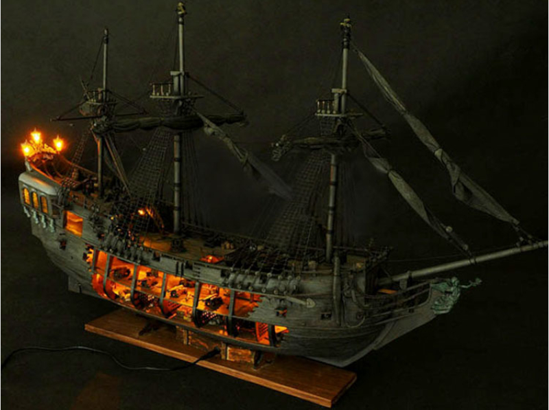 1:41 DIY Craft Wood Boat Model Kit for Black Pearl Sailing Ship for Pirates of the Caribbean Assembly Boat