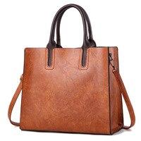 Simple Women Handbags 2018 PU Leather High Capacity Women Bags Elegant Solid Color Crossbody Bags For Women Big