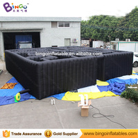 10.7X10.7X2.2M Large All black inflatable maze for obstacle game inflatable arena labyrinth for carnival children outdoor toy