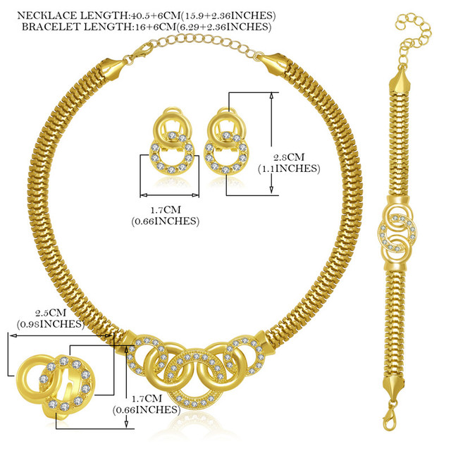 OUMEILY 2018 African Jewelry Set Dubai Gold Silver Jewelry Sets For Women Round Wedding Jewellery Set Bridal Costume Jewelery 5