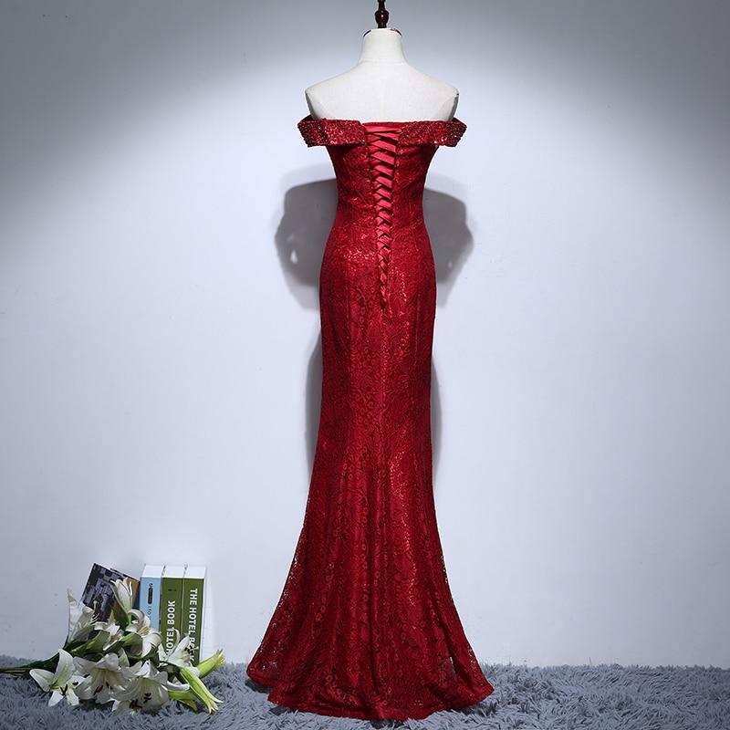 Rochii de mireasa de mireasa de pe umar Beading Rochie elegantă de - Rochii de seară de nuntă - Fotografie 2