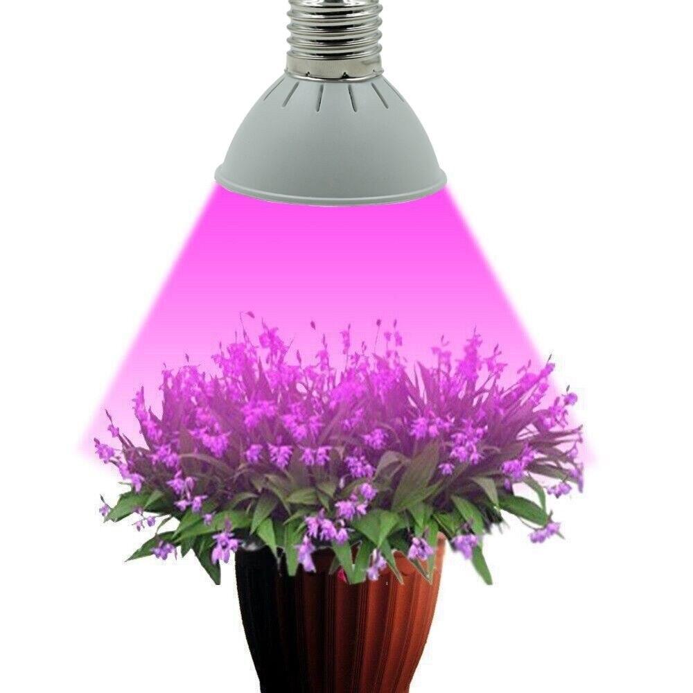 House Plant Grow Light: Full Spectrum E27 10W 86Red&20Blue LED Grow Lights