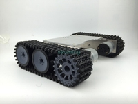ราคาถูก2wdอลูมิเนียมและเหล็กโลหะหุ่นยนต์แชสซีถังROT-1ตีนตะขาบSN600 6-12โวลต