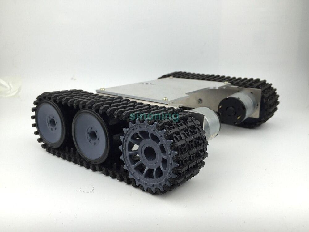 где купить Cheap 2wd Aluminum & Steel Metal robot chassis tank ROT-1 crawler SN600 6-12v дешево