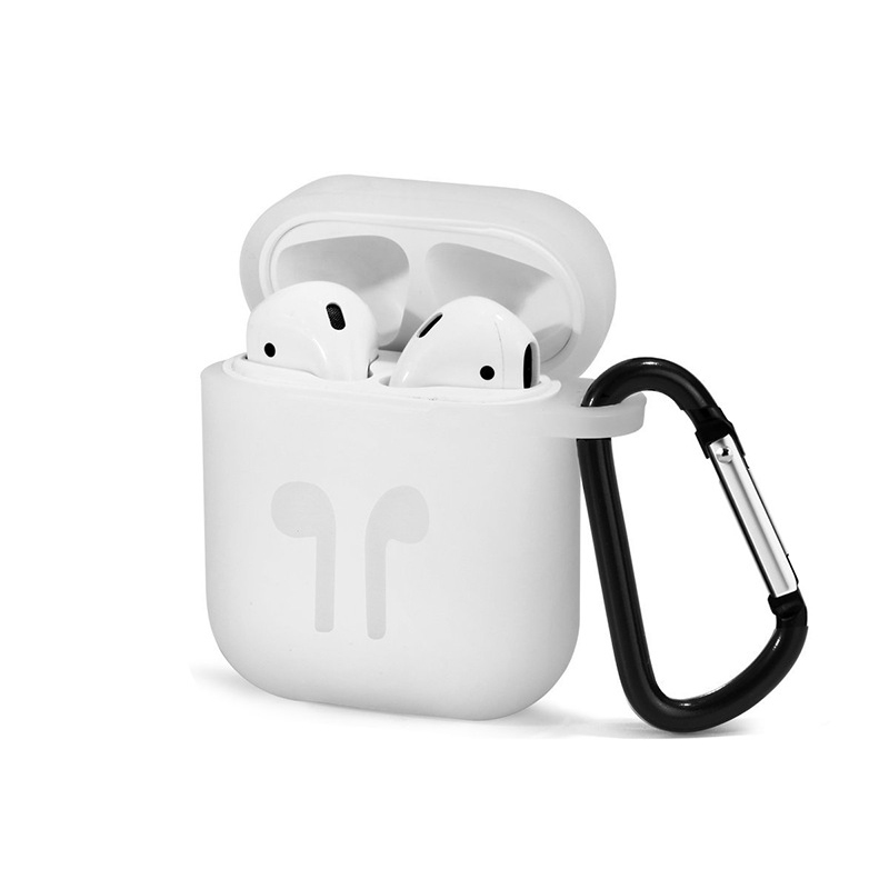For Apple Airpods Silicone Case Soft Cover Protector with Dust Plug Anti Lost Strap Sleeve Pouch for Air pods Earphone (10)