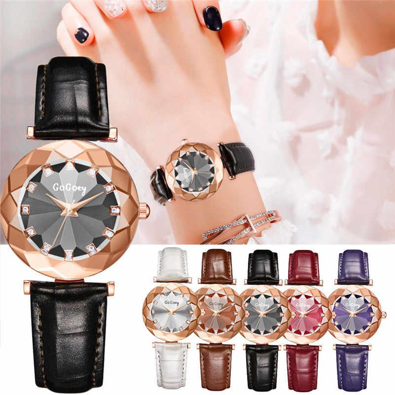 Модные женские часы Роскошные ромбовидные выпуклые стеклянные с кристаллами