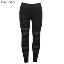 FLORATA Leggings Activewear Black Leggings Sexy Women High Waist Active Black Workout Legging casual Clothing