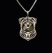 Ожерелье «собака» ручной работы ожерелье «Мопс» резной полый