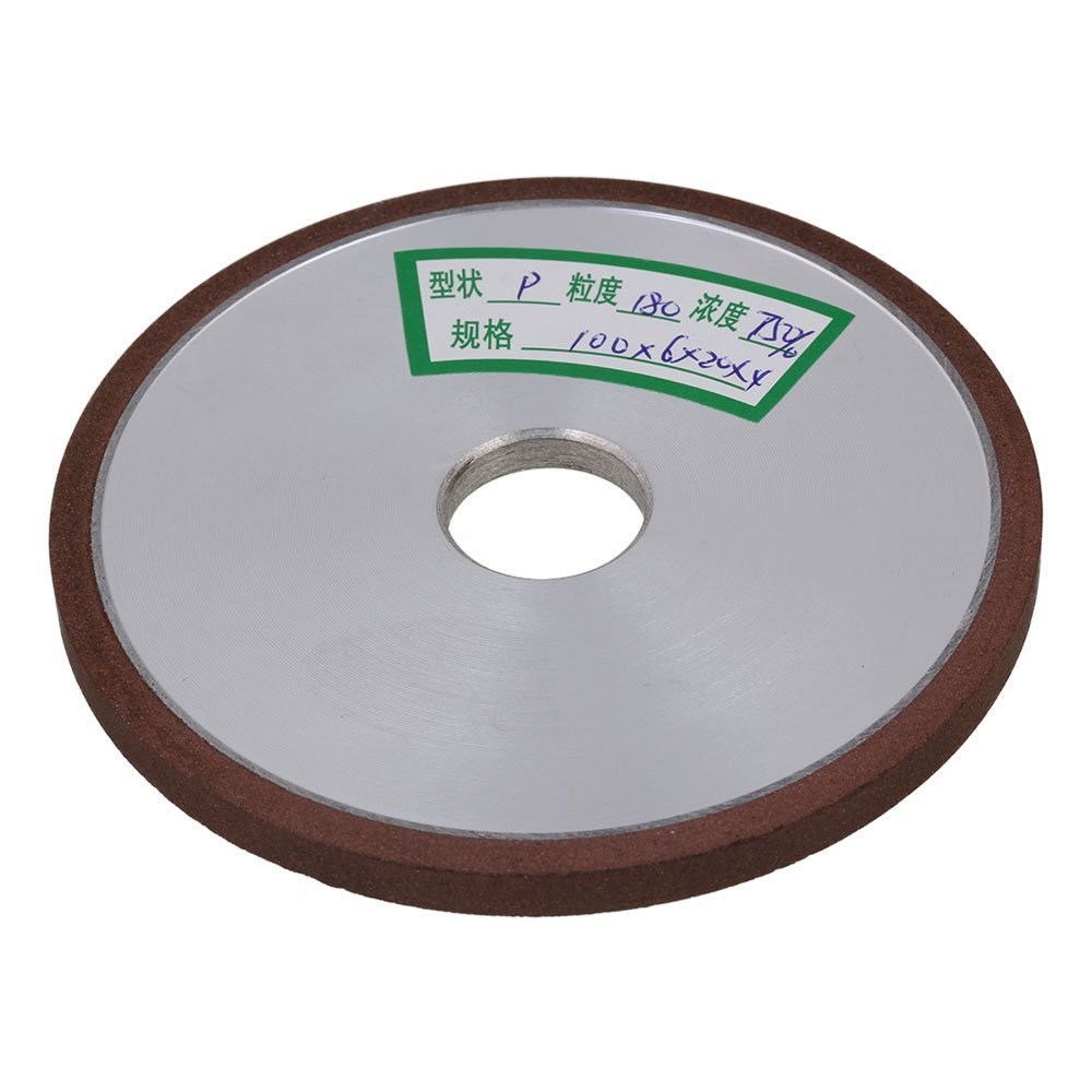 180# Grit Flat Disc Straight 100mm Silver Diamond Aluminum Resin Grinder Grinding Wheel With