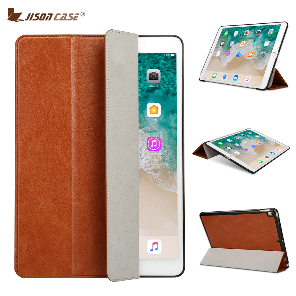 Jisoncase Smart Cover PU Leather Flip Case for iPad Pro 10.5 Foldable Kickstand Luxury Folio Cases for iPad Pro 10.5 Slim Design
