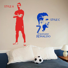 Art design Cristiano Ronaldo cheap vinyl home decoration football player wall sticker removable house decor soccer star decals