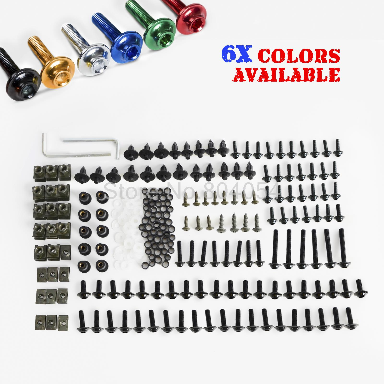 Motorcycle/Sportbike Windscreen Fairing Bolts Kit Fastener Clips Screws