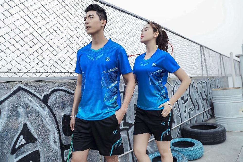 Tennis Shirt Blank Badminton Jersey Men & Women Sportswear Training Suit Shuttlecock Running Badminton Shirt Sports Shirts Male