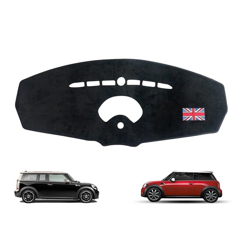 Tapis de tableau de bord de voiture noir éviter l'entraînement de sécurité léger tapis Anti-éblouissement Console centrale housse de Protection pour Mini Cooper R55 R56 style