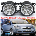 Для OPEL CORSA D Хэтчбек 2006-2011 стайлинга Автомобилей передний бампер СВЕТОДИОДНЫЕ противотуманные фары высокой яркости противотуманные фары 1 компл.