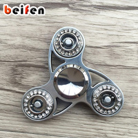 Bei Fen New Fidget Spinner With Plastic Diamond Hand Spinner Colorful Printing Metal Spins 4 Minutes