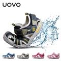 UOVO Children's Beach Sandals Boy & Girl's Breathable Non-Slip Soft Sole Shoes Hollow Casual Beach Shoes Sandalias 15.1-22.5 cm