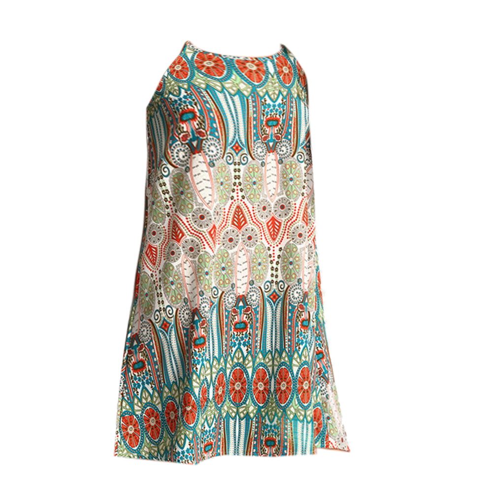 Women Beach Dress Vintage Sexy Cover-Up Summer Mini Dress Evening Party Cocktail New Cover Ups Pareo Beach Wear  1