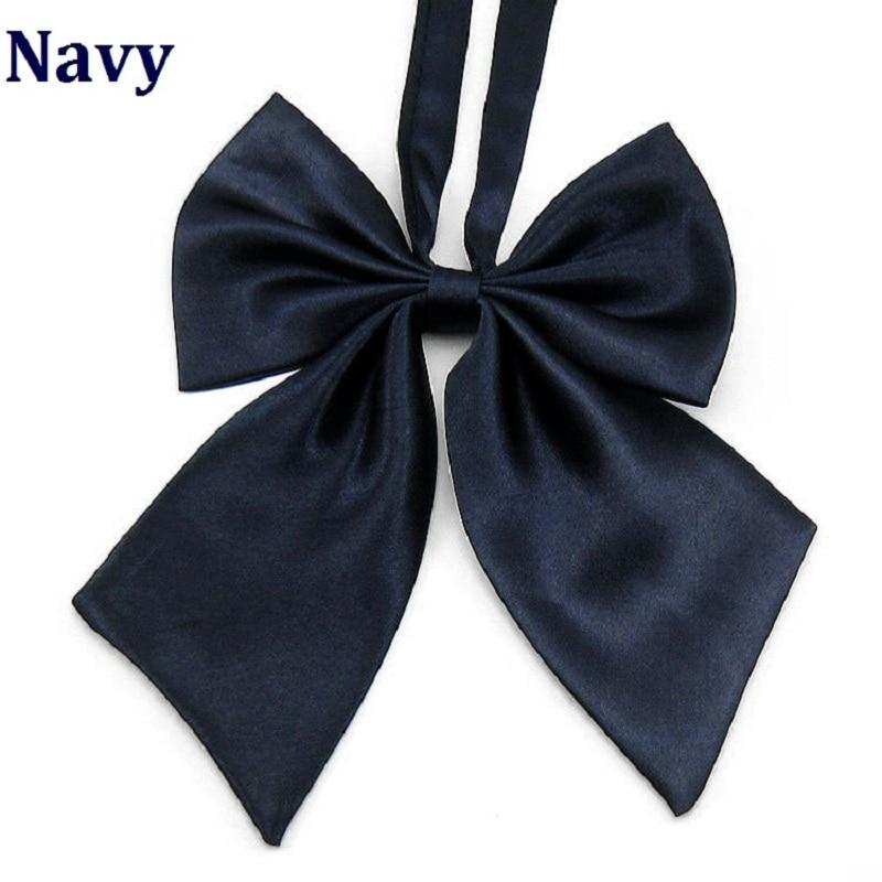 Hooyi 2019 Navy Neck Krawatte Für Frauen Schmetterling Feines Handwerk Bekleidung Zubehör