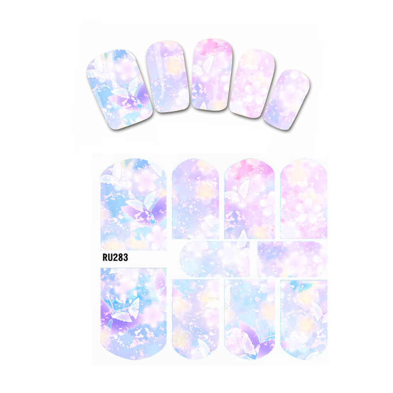 UPRETTEGO NAIL BEAUTY WATER DECAL SLIDER NAIL STICKER BLOEM TROMPET RAINBOW ESDOORNBLAD FLYING BLOEMBLAADJES RU283-288