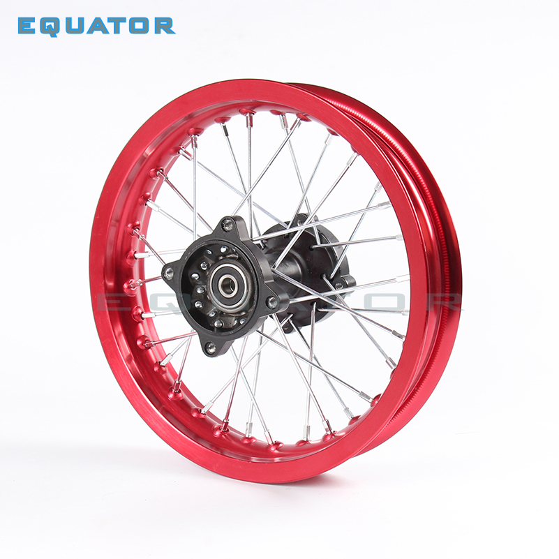 motorcyle parts Pit bike Rim of 1.85-12inch Rear Wheel Rim 80/100-12inch Aluminium dirt bike wheel Rims 12mm hole hub