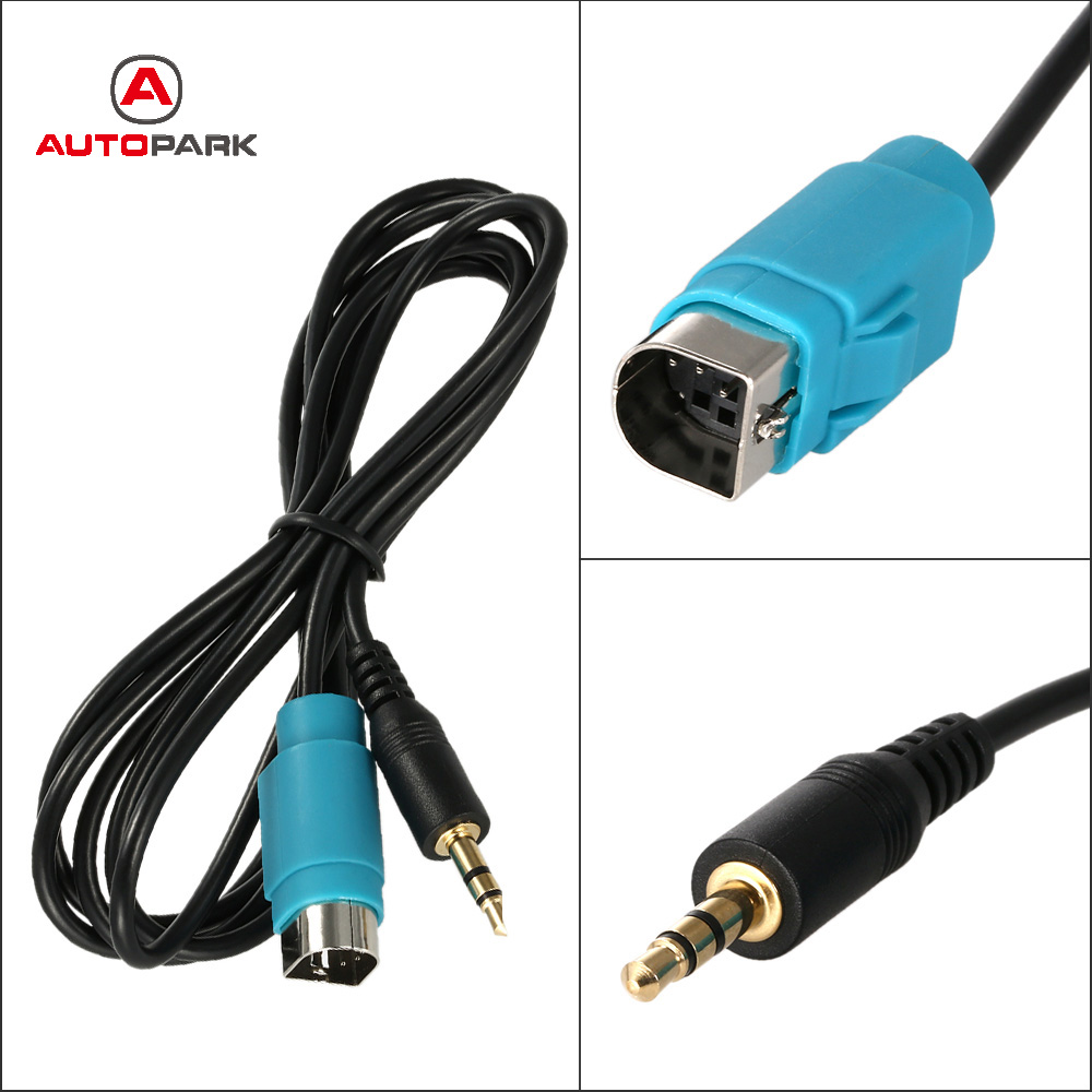 kkmoon kce 236b 3 5 mm car aux cable connection line audio adapters for alpine for phone mp3 in. Black Bedroom Furniture Sets. Home Design Ideas