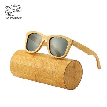 3c79ba70e2 Un trago Real madera gafas de sol polarizadas gafas de sol de madera UV400  sol de madera de bambú marca con Dr