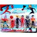 Wholesale!!! 10sets/lot Miraculous Ladybug Action Figure Toys Adrien Noir Agreste Cat Plastic Doll Christmas Gift