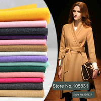 Thick Pure Color Wool Blend Fabric Two Sided Woollen Cloth Cashmere Fabric For Diy Winter Coat