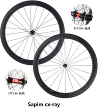 50mm Carbon Wheels with 240,Hub, Sapim CX-Ray Spokes Light Weight Carbon Road  Wheelset 700C 20.5mm