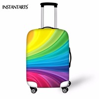 INSTANTARTS Colorful Paisley Print Luggage Thicken Covers For 18 30 Inch Travel Trolley Suitcase Elastic Protect