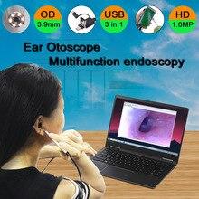 3,9 мм HD 720P 3в1 USB медицинский эндоскоп ушной Отоскоп камера Водонепроницаемый эндоскоп камера для OTG Android PC ушной эндоскоп