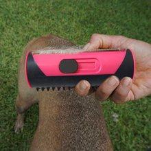 Cão de estimação pente de cabelo rolo de fiapos cão gato filhote de cachorro escova de limpeza gatos sofá de cabelo tapete mais limpo escovas suprimentos para animais de estimação pente