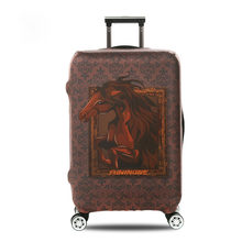 OKOKC 3D Horse Thickest Suitcase Cover for Trunk Case Apply to 18''-32'' Suitcase,Elastic Luggage Cover, Travel Accessories(China)