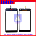 """Высокое Качество 5.0 """"для Nokia Lumia 535 N535 2S1973 2C1607 Сенсорным Экраном Дигитайзер Сенсорная Панель Переднее Стекло Объектива Бесплатная Доставка"""