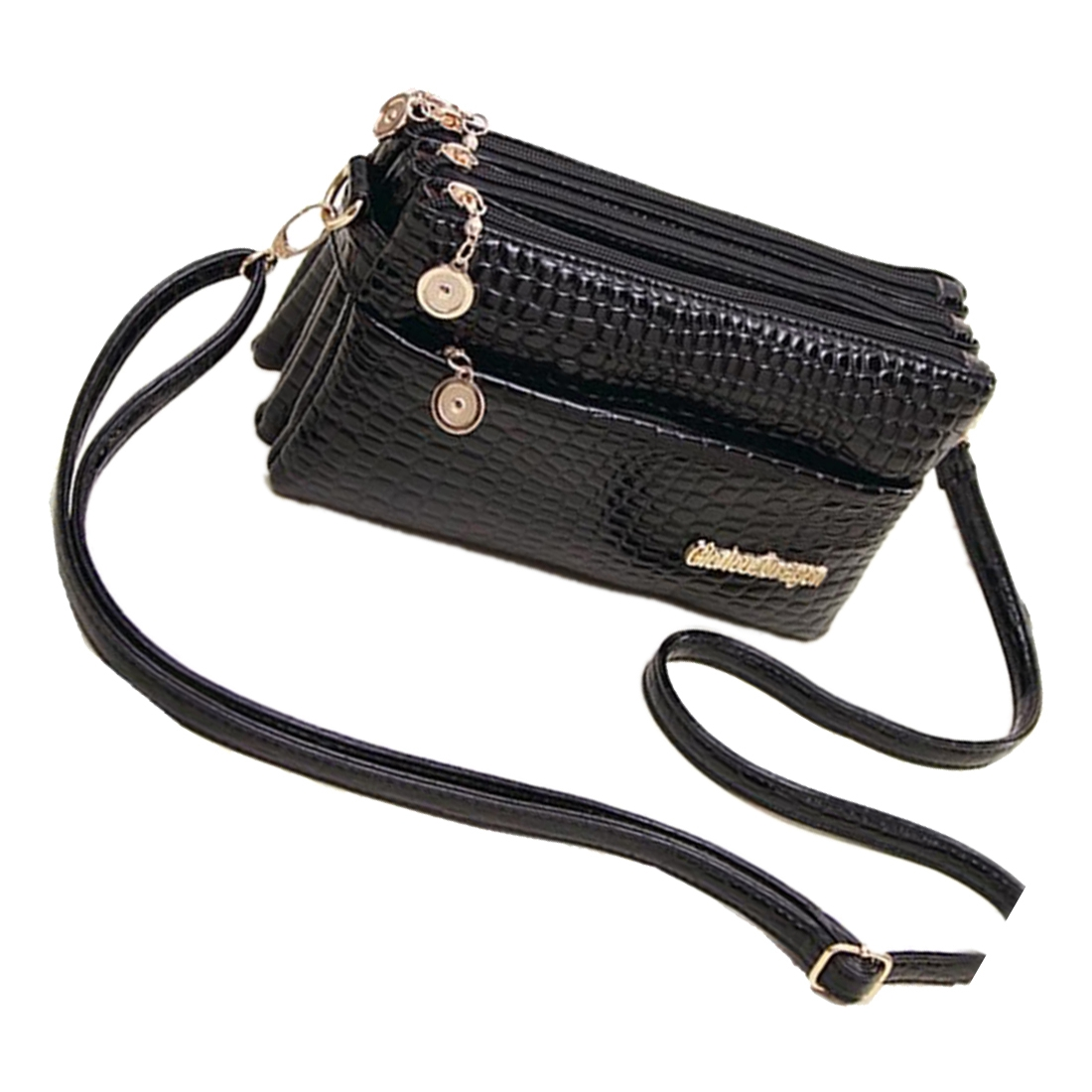 2018 new fashion and high quality Women handbags Small Shoulder Crocodile Pattern Messenger Bags for Handbag Clutch Black PU