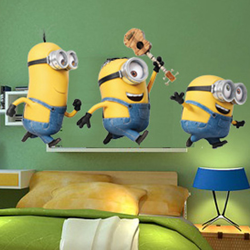 New Despicable Me 2 Minions Wall Sticker For Bedroom Decal Decoration Home Child