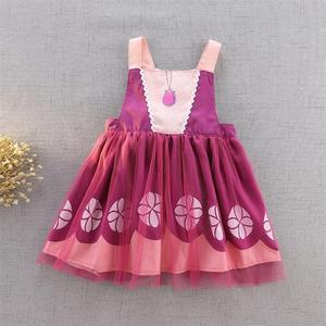 Image 4 - תינוק ילדה עמיד למים סינר שמלת בנות Cartoon נסיכת ציור סרבל שמלת כולל 2 7Y E1119