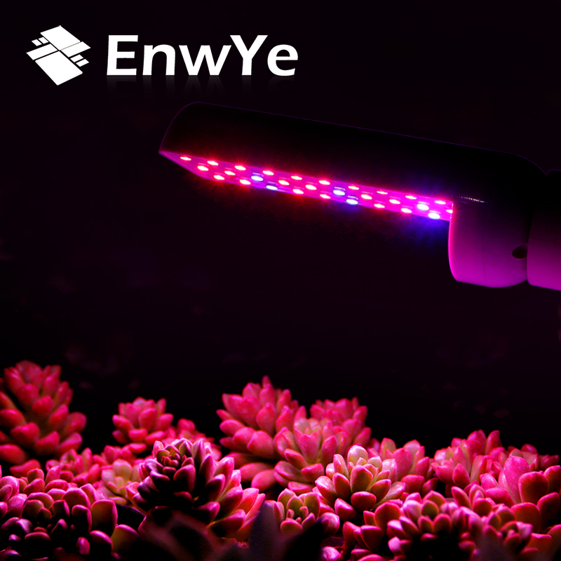 EnwYe LED Plant Growth Lamp AC220V Flexible Metal Hose Plant Lamp Bracket E27 Indoor Vegetable Hydroponic System Plant Lamp
