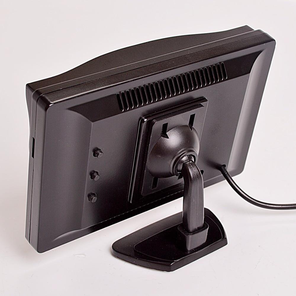 """Hippcron 5 дюймов Автомобильный монитор TFT ЖК-дисплей """" HD цифровой 16:9 800*480 Экран 2 Way видео Вход для заднего вида Камера DVD/VCD/"""