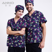 Hospital Nurse Uniform Hot Selling Scurbs Medical Uniforms New Style V Neck Medical Scurbs With Blue