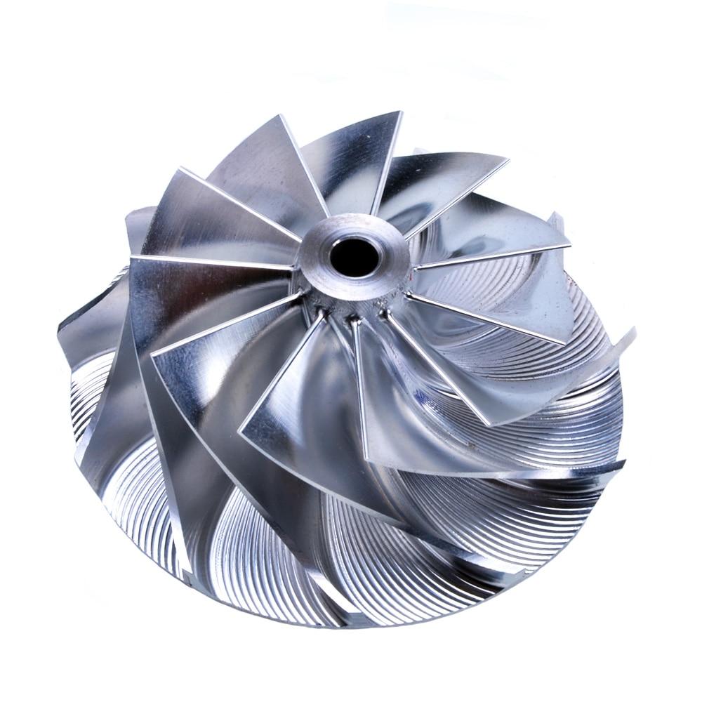 Kinugawa Turbo Billet Compressor Wheel 59.05/76.07mm 11+0 for Garrett T3 T4 T04B T04E T04S 60-1 kinugawa turbo billet compressor wheel 47 1 60 13mm 11 0 raise over height for garrett gtx2860r 813711 0003