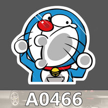 Bevle A0466 Doraemon Kat Styling Waterdichte Sticker voor Cars Laptop Bagage Skateboard Graffiti Cartoon Notebook Stickers(China)
