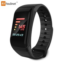 FocuSmart F1Plus Smart Bracelet Color Screen Blood Pressure Fitness Tracker Heart Rate Monitor Band Sport for Android IOS