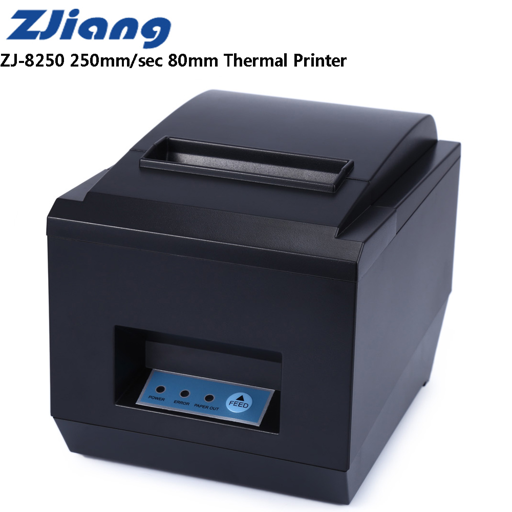 Zjiang ZJ-8250 POS Receipt Thermal Printer With 80mm Paper Rolls High-Speed 250mm/S Supports ESC / POS Thermal Line Printing