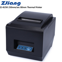 Zjiang ZJ 8250 POS Receipt Thermal Printer With 80mm Paper Rolls High Speed 250mm/S Supports ESC / POS Thermal Line Printing