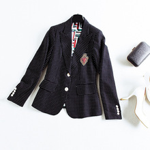 High quality long sleeve slim blazers 2018 new brand runway women sprint blazers fashion office lady