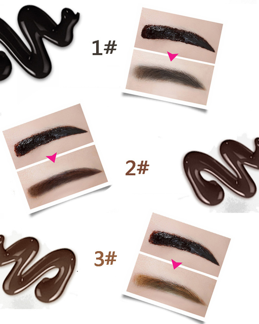 Waterproof Makeup Liquid Eyebrow Gel Peel Off Eye Brow Tint Tattoo Cosmetics Long Lasting Black Brown Eyebrow Paint Make Up 3
